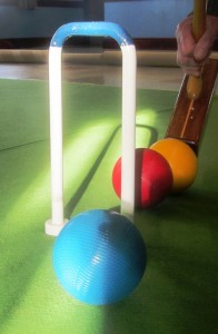 Indoor croquet at Bishop Burton