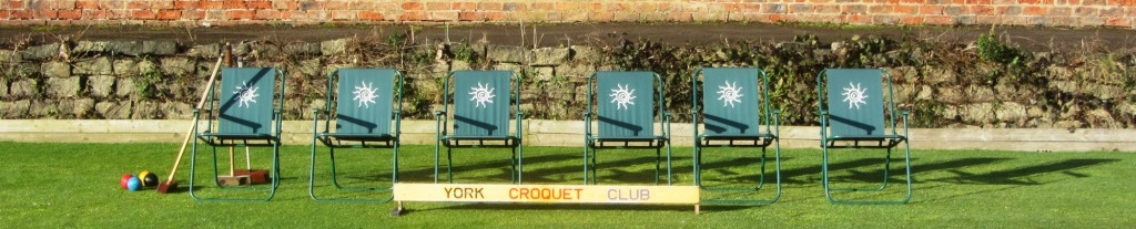 Break for refreshments at York Croquet Club - picture of chairs in a row