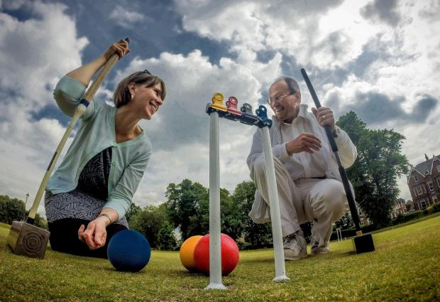 Maxine Gordon from The Press tries the game at York Croquet Club